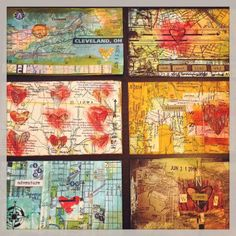 3x5 Journeying Into & Through    creativity in motion #ICAD #week3 #maptheme