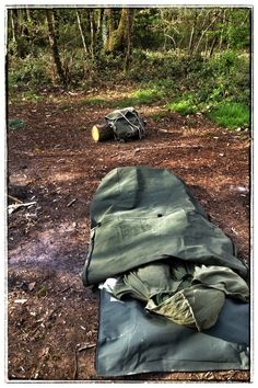 Wynnchester classic canvas bedroll - perfect for wild camping.
