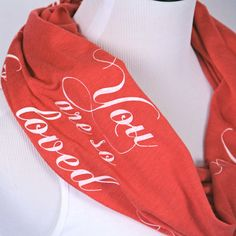 You are so Loved Scarf Valentine's Day Gift by ModLux on Etsy