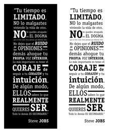 Diseño Frase - Steve Jobs on Behance