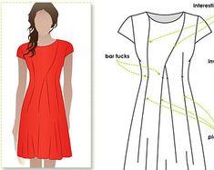 Modèle robe robe tailles 10 12 14 Addison PDF par StyleArc