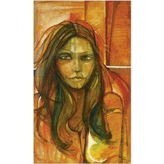 Portrait of a girl by Suad Al-Attar