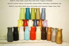 Build Your OwnSet of Painted Milk Bottles by PineknobsAndCrickets