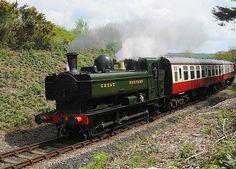 The Bodmin & Wenford Railway -  Ex G.W.R. Pannier Tank - No 4612 - Aproaching Bodmin General