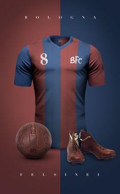 Bologna FC Vintage clubs II on Behance Retro Football Shirts, Vintage Football, Soccer Shirts, Football Jerseys, T Shirts, Soccer World, World Football, Football Kits, Camisa Retro