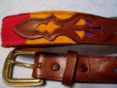 Southwestern NOCONA LEATHER Belt Women's Size 30 A 540 Multicolor Fabric #Nocona #Western