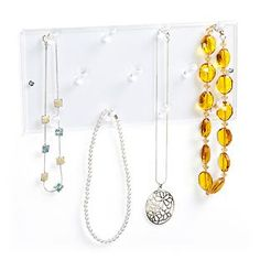 11-Peg Acrylic Necklace Rack
