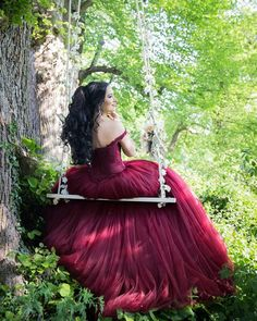 swing in the wind with this maroon/burgundy ball gowns wedding dresses,so sweet!