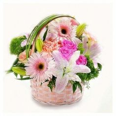 Basket with flowers - send flowers basket to Bulgaria by local florists