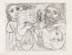 Picasso. Minotauro bebedor y mujeres, 1933