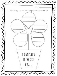 Lesson on Integrity. Did this lesson this week, The final