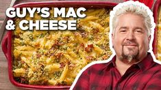 Mac Daddy Bacon Mac and Cheese with Guy Fieri Best Mac N Cheese Recipe, Best Mac And Cheese, Bacon Mac And Cheese, Food Network Mac And Cheese Recipe, Cheese Recipes, The Kitchen Food Network, Food Network Star, Food Network Recipes, Wine Recipes