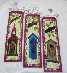 Quilted Bird House Wall Hangings by CraftySewing on Etsy, $249.00