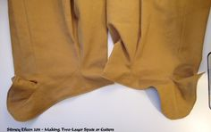 How to Make Two-Layer Spats or Gaiters, by Sidney Eileen