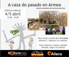 A caza do pasado en Armea en Santa Mariña de Augas Santas, Allariz (Ourense) Actividade infantil