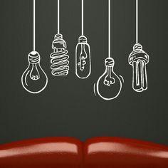 light bulb mural