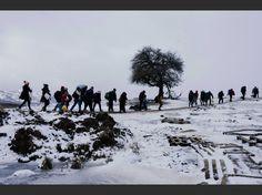 PHOTOS. Le cruel exode des réfugiés dans le froid