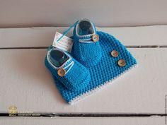 """Купить """"Baby Boy"""" комплект для новорожденного малыша - шапочка вязаная, фотосессия, фотореквизит, для фотосессий, для фотосессии"""