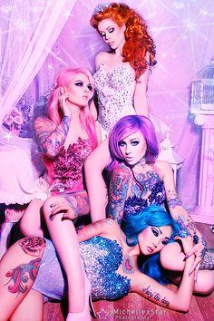 Ophelia Overdose, Kelly Eden, Emily Dearheart, and Amelia Nightmare
