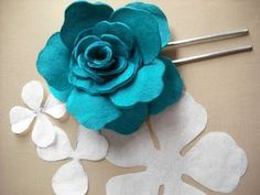 queenplinker: Leather rose tutorial to make the rose for the girls headbands
