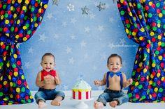 Smash the Cake; circus, twins