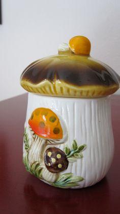 Merry Mushroom Covered Sugar dish Sears  1978 by happykristen, $14.00