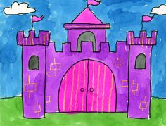 Art Projects for Kids: Watercolor Castle