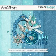 Digital Scrapbooking Freebies from Studio Flergs. Free Frozen themed mini kit.