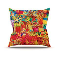 Kess InHouse Ebi Emporium Painting the Soul Outdoor Throw Pillow - JD1004AOP0