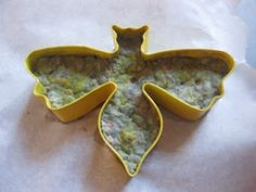 Recycled paper +seeds +cookie cutters=cool gardening gift!