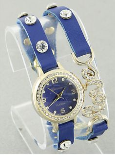 Crystal Love Bracelet Watch from P.S. I Love You More. Shop online at: https://psiloveyoumore.storenvy.com