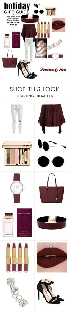 """Fearlessly You"" by emilizastyles ❤ liked on Polyvore featuring Sans Souci, Miu Miu, DKNY, Michael Kors, Dolce&Gabbana, Vanessa Mooney, tarte, Topshop, STELLA McCARTNEY and love"