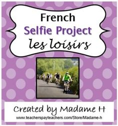 This is an engaging project to do with beginning French students to reinforce vocabulary for leisure time activities and preferences. The final product requires students to create selfies in which they participate in activities that they enjoy as well as name where they are.