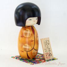 Lovely Creative Kokeshi Doll OCHAME (PLAYFUL GIRL) by Masae Fujikawa