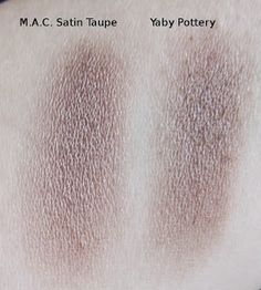 MAC Satin Taupe dupe Yaby Pottery