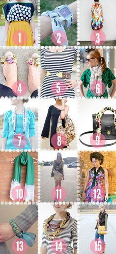 #DIY Scarf Tee Shirt Crafts, T Shirt Diy, Diy Scarf, Scarf Ideas, Peter Pan Collar Dress, Diy Wardrobe, Diy Fashion, Fashion Design, Diy Clothing