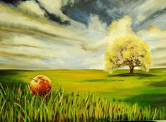 Apple Far from the Tree  Large Original Oil by NbeittelART on Etsy, $300.00