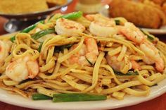 Have you tried Ding How's NEW dish yet? Spicy Garlic Shrimp Noodles. YUM! #SanAntonio #DingHow