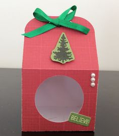 Cute box using the Baker's Box Thinlits Dies by Stampin' UP.