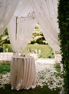 small lace fabric tent