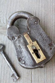 Under Lock And Key, Key Lock, Antique Keys, Vintage Keys, Knobs And Handles, Door Handles, Safe Door, Old Keys, Key To My Heart