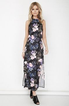 The Fifth Label Floral Adore You Maxi Dress in Black XS - L   DAILYLOOK