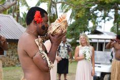 Fiji traditional warrior for wedding