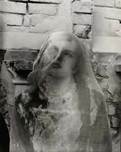"""themissingboy: """" Clarence John Laughlin (1905-1985) The Self-Divided, 1941 (Gelatin-silver print: ferrotyped, 34x27cm). """""""