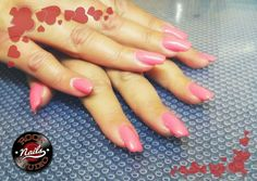 Gel nails extensions pinky time