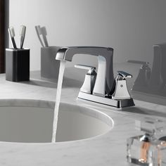Meet Ashlyn®! With sleek, angular lines and soft edges, the Ashlyn bath collection creates a modern appeal at an attractive price. #deltafaucet…