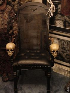 Rob Zombie's one of a kind custom made skull chair original