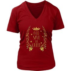 God Save the Queen Bella Womens V-Neck Shirt