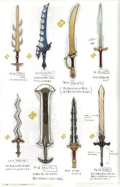animationtidbits: Fire Emblem: Awakening - Weapons Concept Art// I personally loved the armorslayer Fire Emblem Awakening, Sword Design, Weapon Concept Art, Fantasy Weapons, Legend Of Zelda, Drawing Tips, Larp, Dungeons And Dragons, Game Design