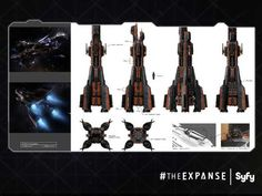 The Expanse ship sketches - Imgur